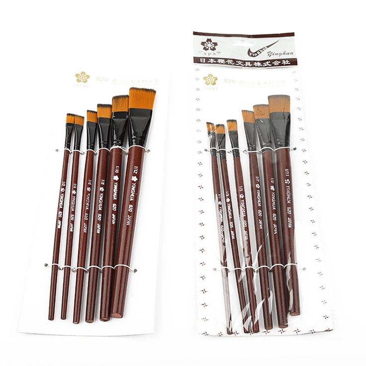 6Pcs High Quality Artist Nylon Hair short Wooden Handle Watercolor Acrylic Oil Paint Brush Set For Drawing Painting Art Supplies - http://backtoschools.org/?product=6pcs-high-quality-artist-nylon-hair-short-wooden-handle-watercolor-acrylic-oil-paint-brush-set-for-drawing-painting-art-supplies