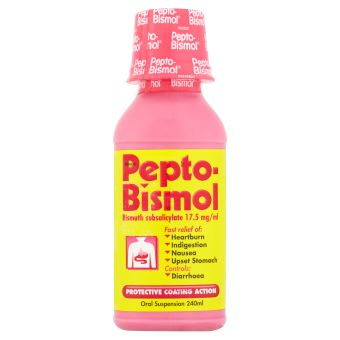 Beat an upset stomach with Pepto-Bismol Oral Suspension from www.rowlandspharmacy.co.uk, only £4.61 for 240ml.