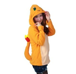 女の子の冬の摩耗のためのオレンジ火竜コスプレパーカー