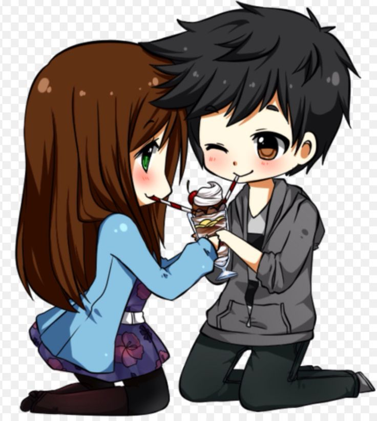 Cute chibi couple♥️