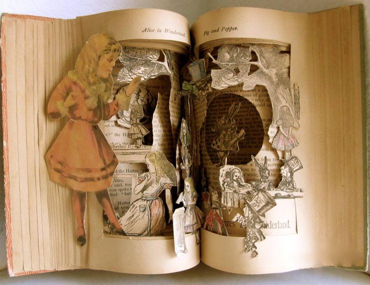 Altered Book   Alice's  Wonderland by Raidersofthelostart on Etsy, $550.00