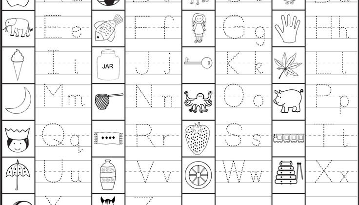 Capital and Small Letter Tracing Worksheet | tareas | Pinterest ...