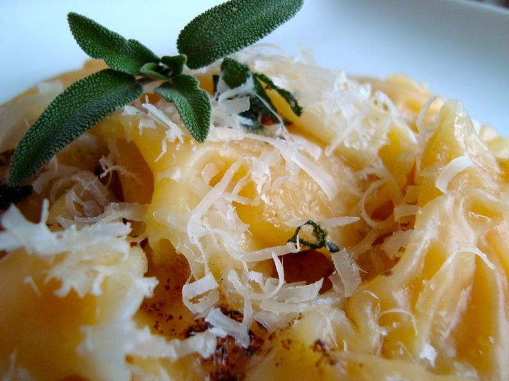 Butternut squash ravioli with sage browned butter for Harvey