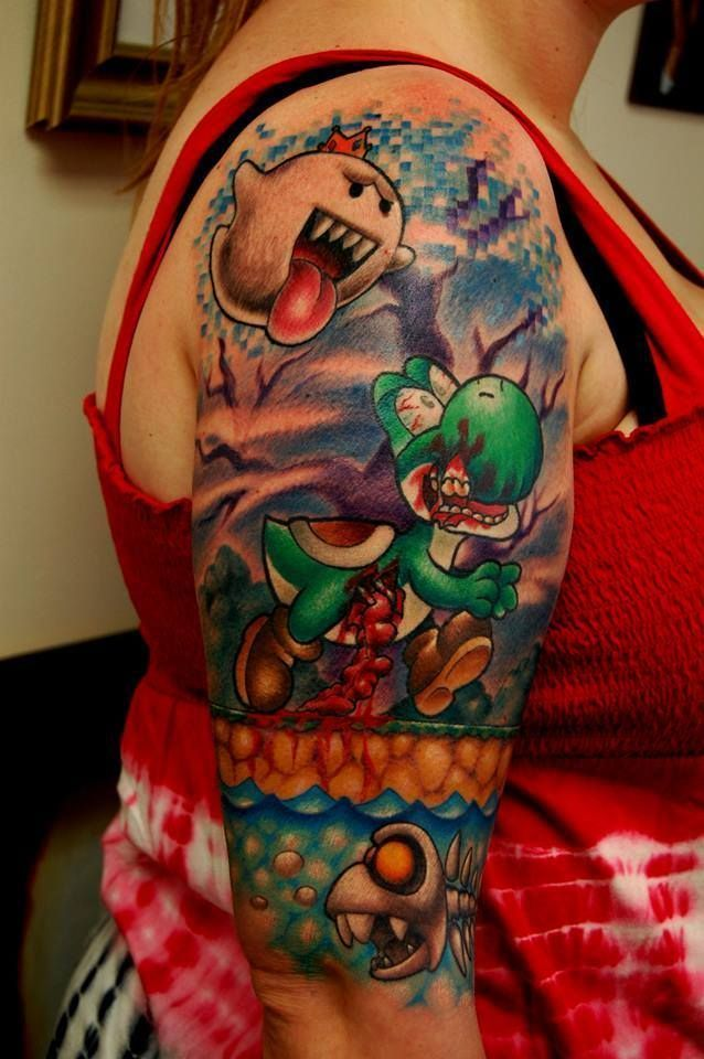 Tattoo Ideas Video Game Tattoos Yoshi Tattoo Favorite Tattoos