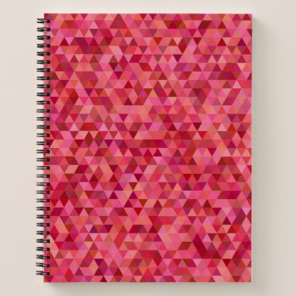Pink Triangles Notebook - pink gifts style ideas cyo unique