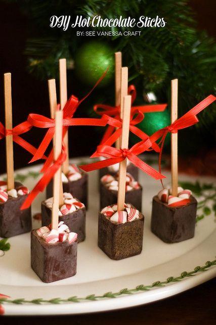 Handmade hot chocolate sticks
