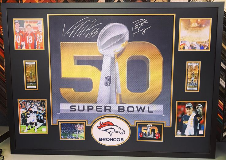 No #Broncos game today, but check out this piece we recently framed! This flag hung at Super Bowl 50 and we recently had it signed by Von and Peyton for our customer! The piece includes acid-free matting, UV acrylic and laser cut logo. Come see why we are Colorado's premier sports framer! #denver #colorado #sportsframing #denverbroncos #peytonmanning #vonmiller #sb50 #worldchamps #broncoscountry