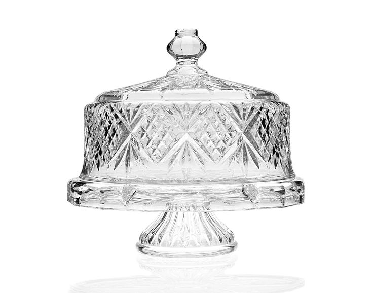 """12.5"""" DUBLIN CAKE PLATE WITH DOME"""