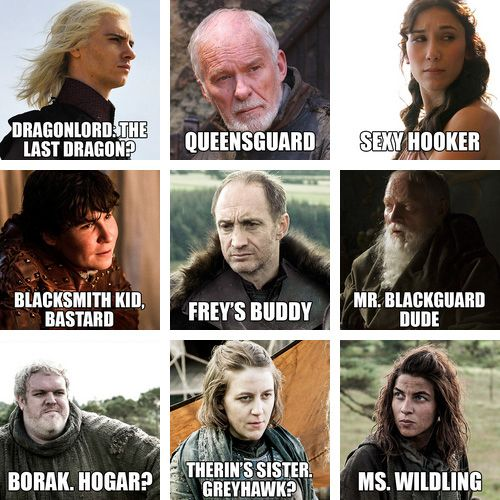 """The Names Of """"Game Of Thrones"""" Characters According To Someone's Dad. There's a whole list."""