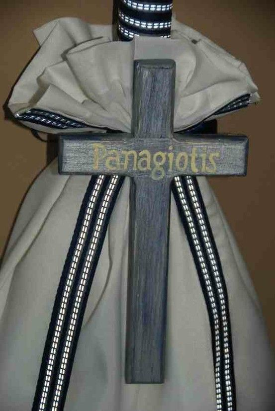 Navy and White Christening set $103.00 at Greek Wedding Shop ~ http://www.greekweddingshop.com