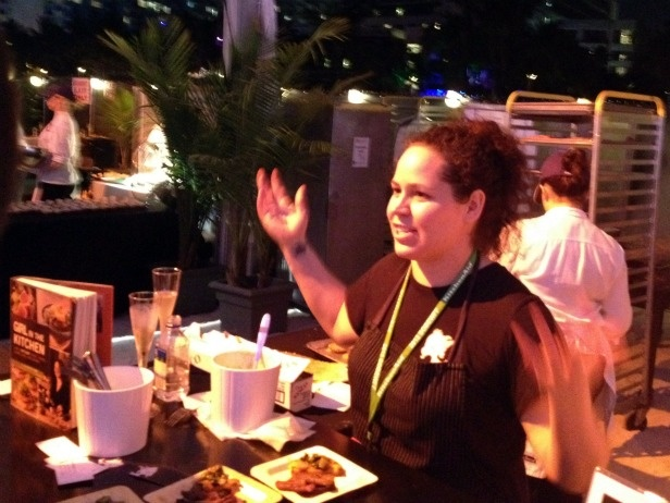 Former Top Chef Stephanie Izard was working the crowd -- in from her Chicago-based restaurant, Girl & The Goat.
