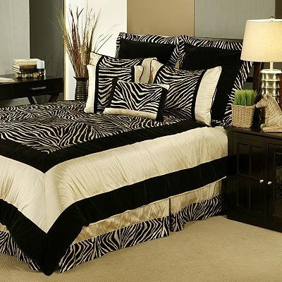 Cream Gold Black Zebra Safari African Bedding Cici S