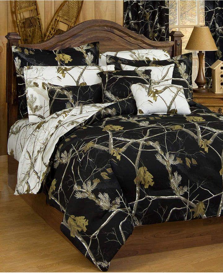 Karin Maki Realtree Ap Black Queen Comforter Sham Set Bedding Camo Comforter Sets