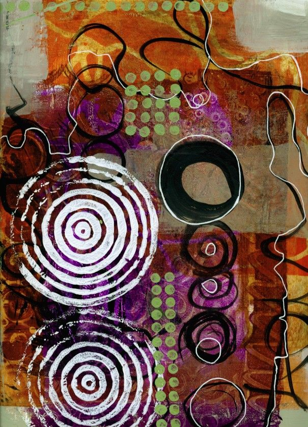 Scribble Painting / drawings cutup to make grid compositions - Tips from Jane Davies | mark making with gel plate and string #techniques #collage #printing