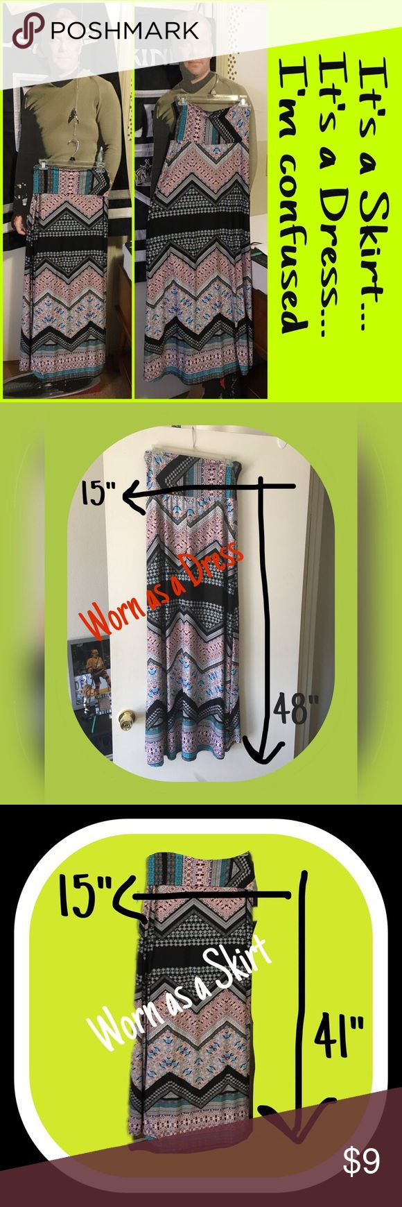 💥💥 BOGO SALE 💥💥 🍀🍀 EUC It's a Skirt and a Dress all in one 🍀🍀 can be worn either way.  It's up to you and your mood 😜 Size Large Skirts Maxi