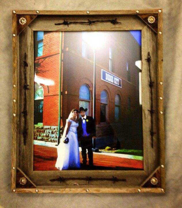 Custom made western picture frame