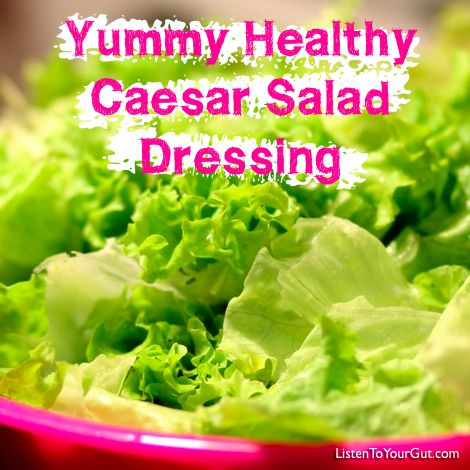 Here's my recipe for Caesar salad dressing – whenever I serve this, people ask for the recipe and I've yet to meet a child who doesn't like it – as long as they don't know there are anchovies in it! Although, the anchovies are optional, you can leave them out and it still tastes great. http://blog.listentoyourgut.com/yummy-healthy-caesar-salad-dressing/ #ceasarsalad #food #recipe #salad #kitchen