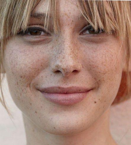 Capri Jewelers Arizona ~ www.caprijewelersaz.com  ~ So many beautiful women with freckles, I believe that I am beautiful as well.