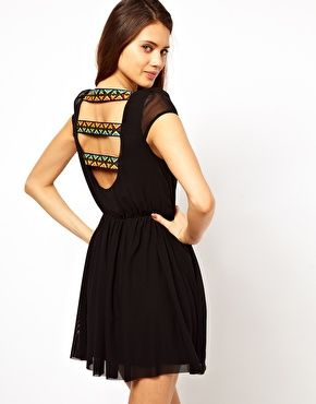 Enlarge Rare Skater Dress with Cut Out Back