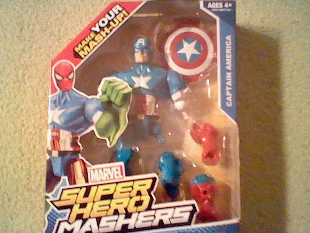 New Marvel Super Hero Mashers Captain America with Shield! In Box, The Avengers #Hasbro
