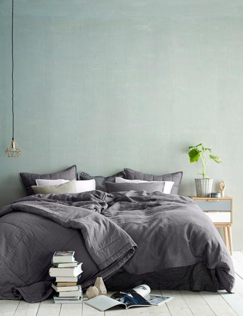 Slaapkamer, white, green & grey