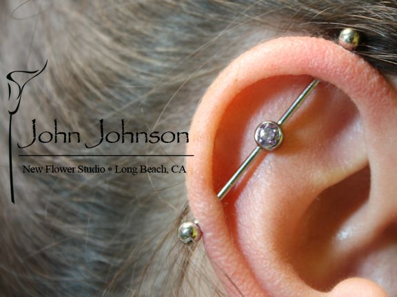 industrial piercing at new flower studio by john johnson