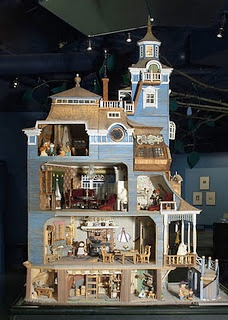 Moomin house, original idea by Tove Jansson, in Tampere Moomin exhibition