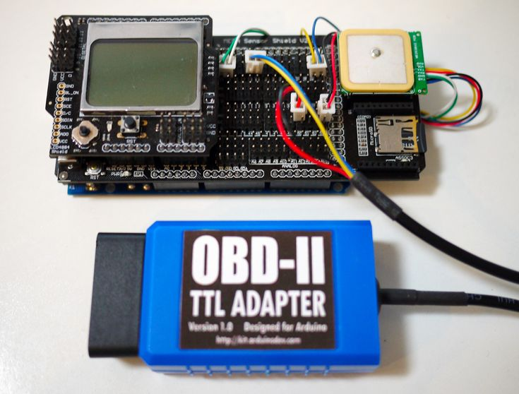 Arduino GPS and OBD-II data logger