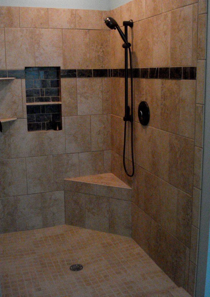 12 Best Tile Showers Images On Pinterest  Showers Bathroom And Brilliant Tile Shower Designs Small Bathroom Inspiration