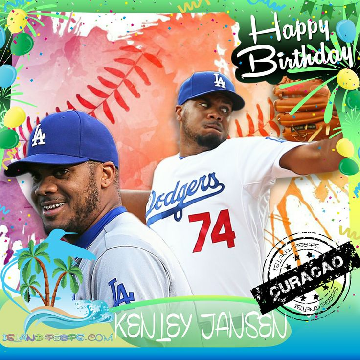 Happy Birthday Kenley Jansen!!!  Curaçaoan pro Baseball pitcher for the Los Angeles Dodgers!!! Today we celebrate you!!! @Kenley_Jansen #KenleyJansen #islandpeeps #islandpeepsbirthdays #MLB #Dodgers #Baseball #Curacao