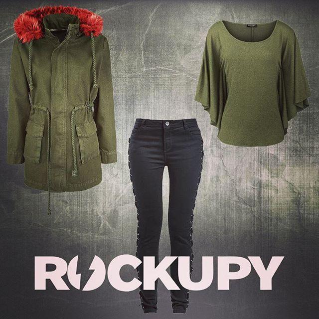 Türkiye'nin ilk Rock Fashion markası Rockupy'ın bayan kreasyonundan. Daha fazlası için www.rockupy.com  #bayangiyim #parka #kaban #pantalon #bluz #yarasakol #rockstyle #rockfashion #rockupy