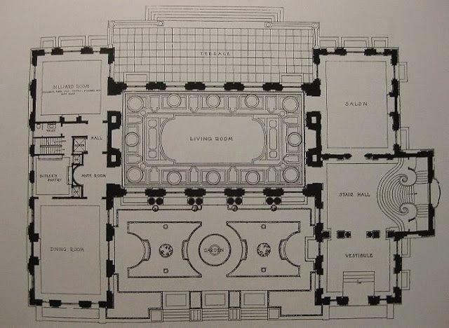 Rosecliff Mansion Ri Floorplan Mansion Floor Plan Rosecliff Mansion Architectural Floor Plans