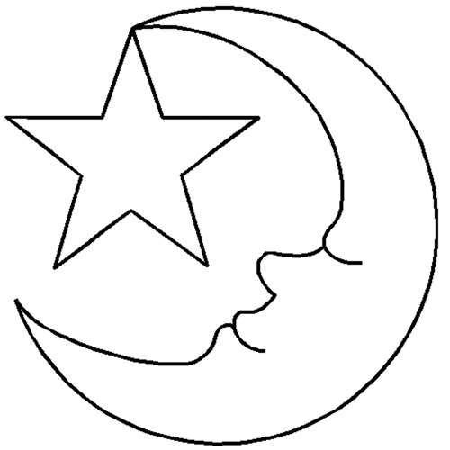 quilt stencils by hari walner 2 u0026quot  moon  u0026 star