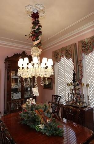 Christmas Decorations Are In Keeping With This Glendale Homes Victorian Decor Dining RoomsVictorian