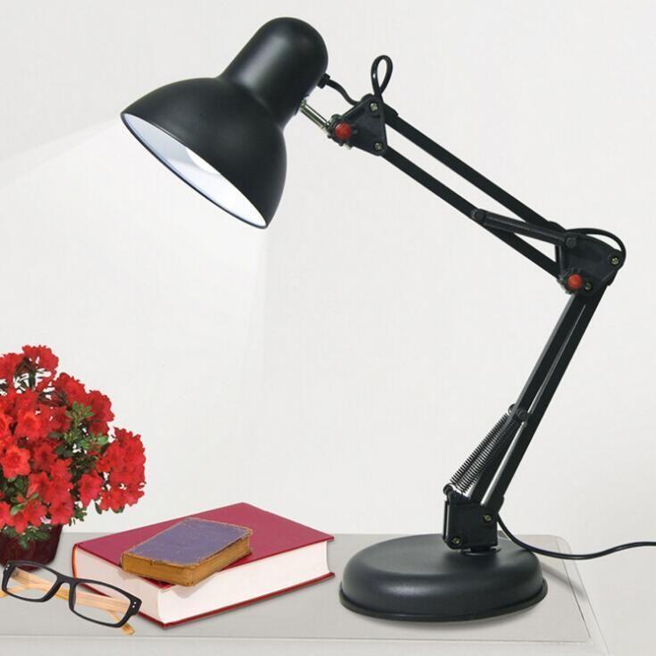 Iron Foldable Long Arm Adjustable E27 Clip Led Table Lamp Table Lamp Lamp Led Table Lamp