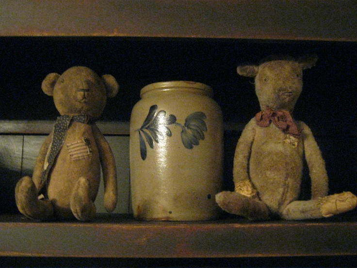 : Olde Bears, Teddy Bears, Crock Teddy, Tattered Teddys, Crocks Stoneware, Old Crocks, Primitive Decor, Crocks Jugs