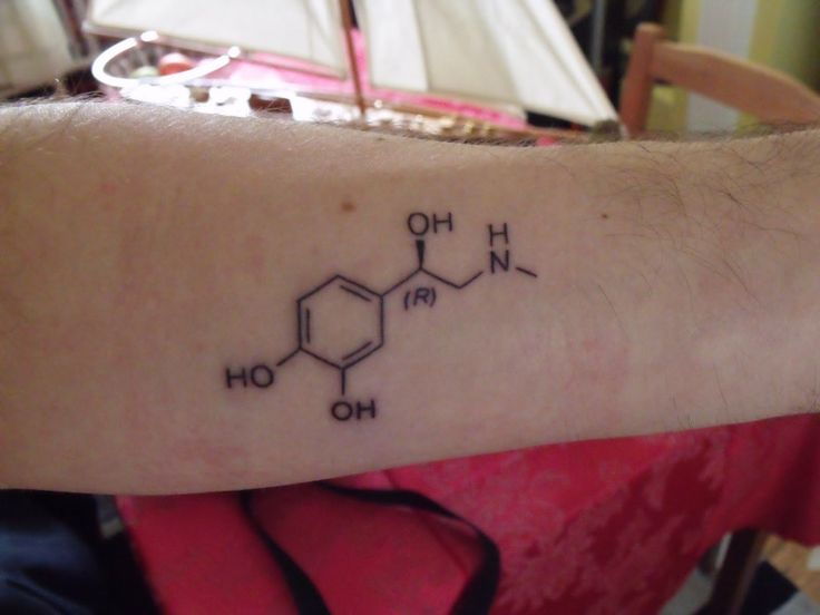 Chemical structure of adrenaline.  26.2 tat