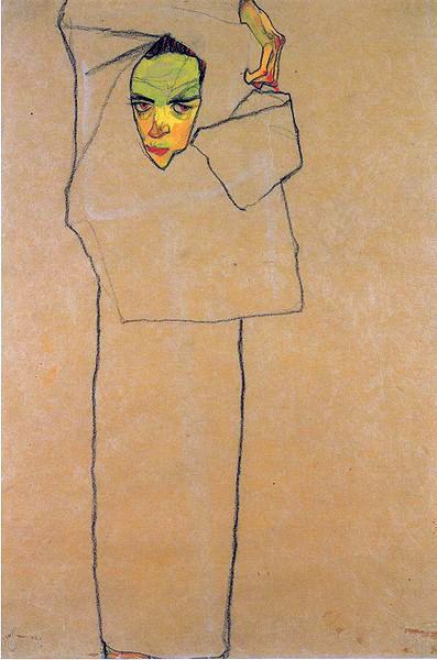 laflaneuse8: Egon Schiele, Self-Portrait, 1910