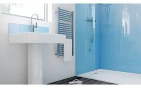 Glass shower splashback
