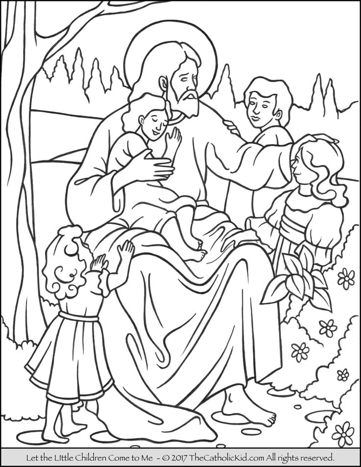 Jesus - Let the Little Children Come to Me Coloring Page ...