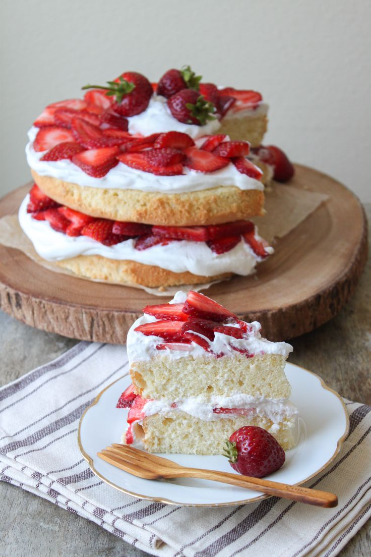 Nothing beats a good, old Victoria sponge recipe. Use fresh strawberries to give it a redder look and fruitier taste.