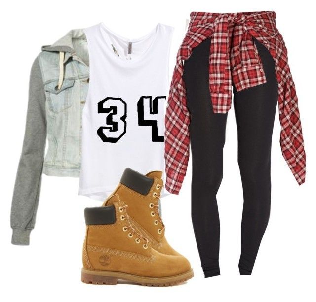 """KC UNDERCOVER"" by fasionista-1154 ❤ liked on Polyvore featuring H&M, Timberland, Forever 21 and R13"