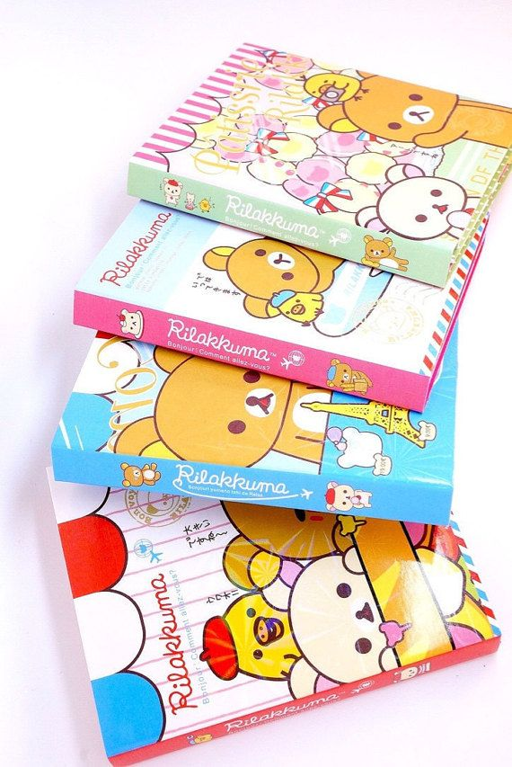 Kawaii RILAKKUMA CAFÉ in PARIS Japan mini book by MyChildhoodDream