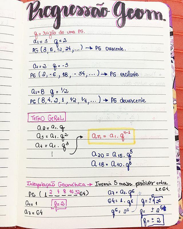 PG - matemática #resumosonhodamedicina #medicina #matematica