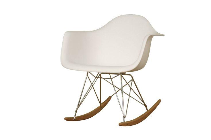 Amazon.com: Baxton Studio Letterio White Cradle Chair: Home & Kitchen