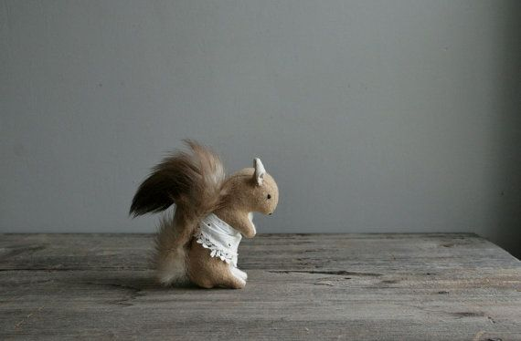 a busy squirrel. RESERVED. by ohalbatross on Etsy