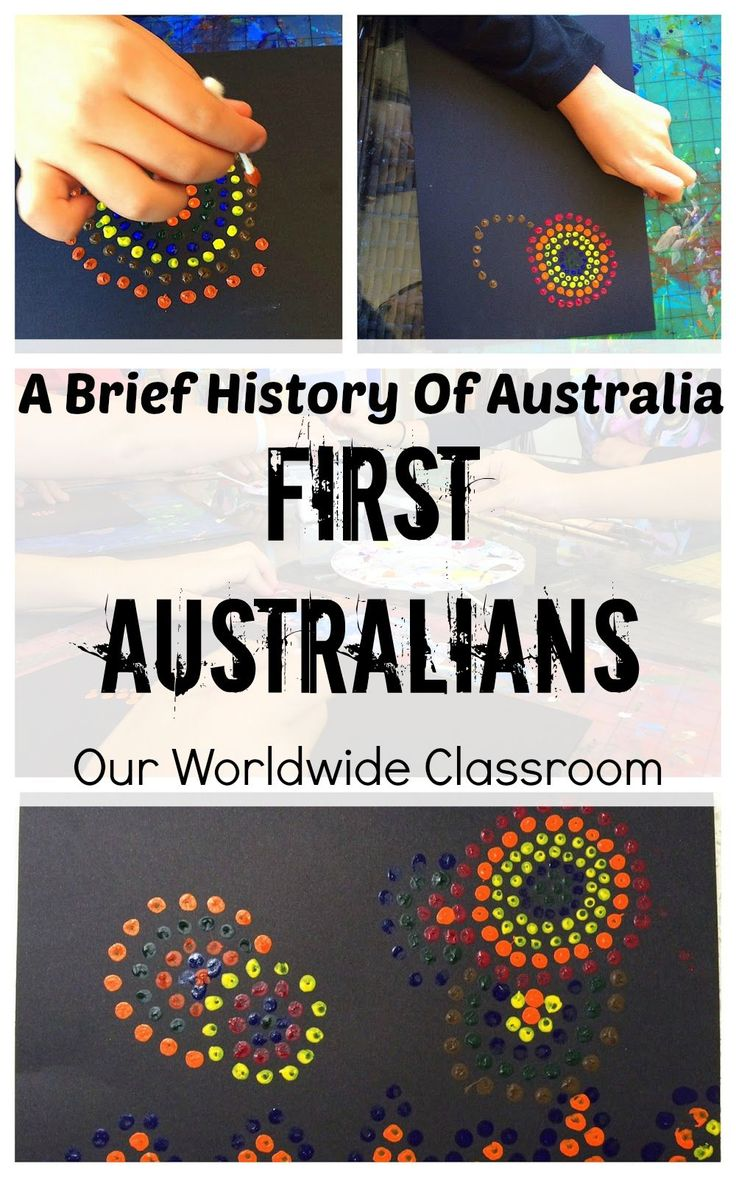The First Australians - A Brief History Of Australia - FREE Timeline Colouring Page