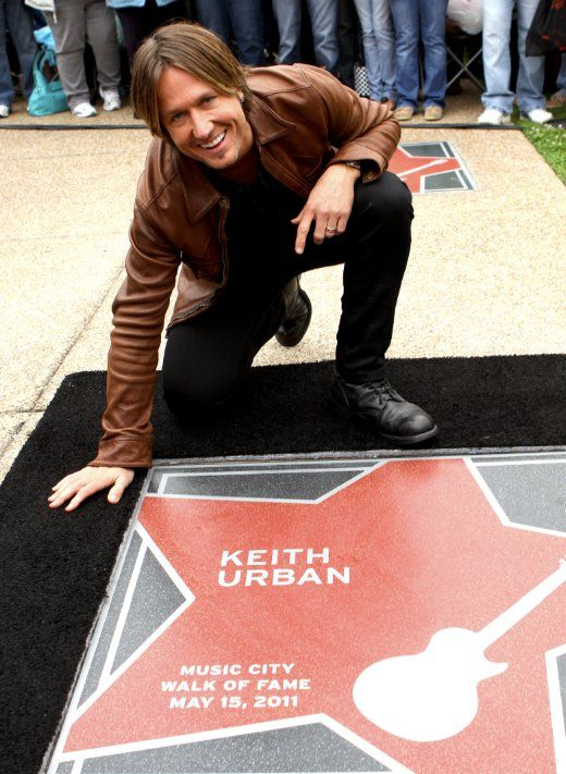 Keith Urban - Walk of Fame. I have taken my picture sitting beside that star!!