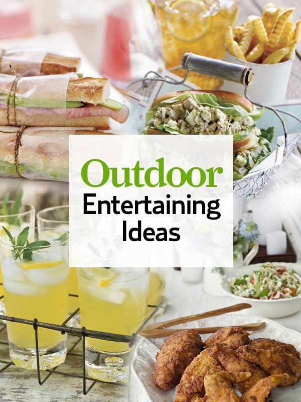 46 best images about summer outdoor entertaining on for Summer party menu ideas