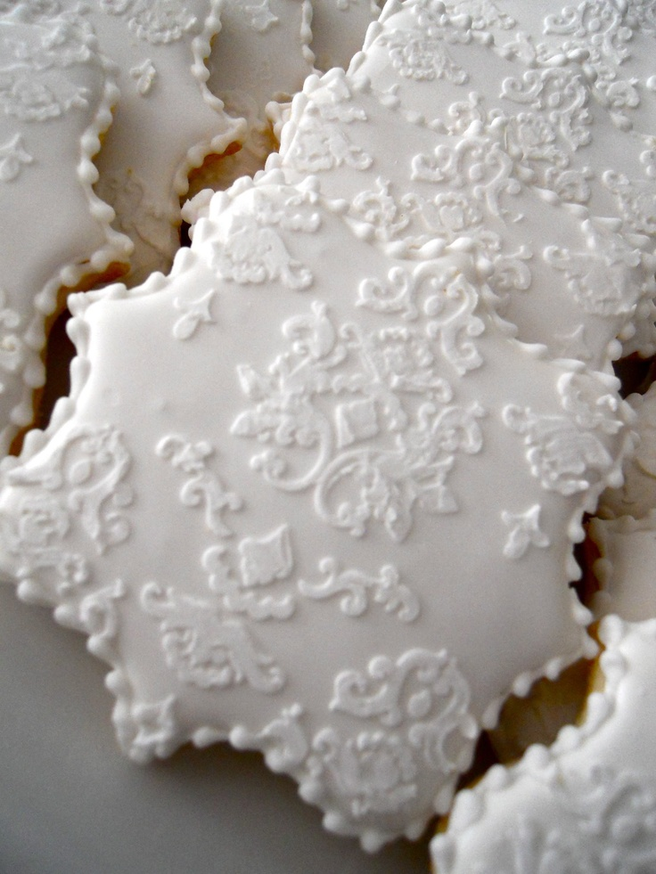 Lace Cookies~     No source, white